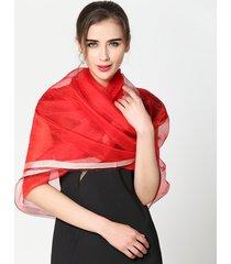 donne abbastanza sottili soft sciarpa di seta serica spiaggia casual protezione solare scialle traspirante
