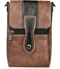 vintage multi-funzionale 6 pollici telefono borsa vita borsa crossbody multi-tasca borsa per uomo