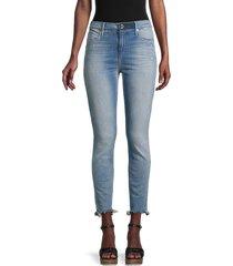 rta women's madrid cropped skinny jeans - blue - size 27 (4)