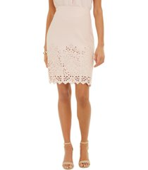 nine west laser cut pencil skirt