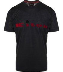 black man t-shirt with red logo