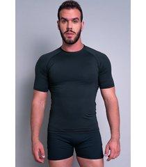 camisa térmica mvb modas masculina manga curta segunda pele preto