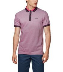 boss men's paddy 2 cotton polo shirt