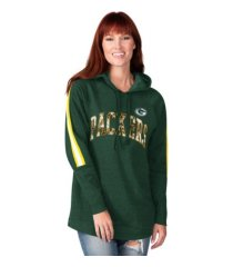 g-iii sports green bay packers women's double team tunic hoodie