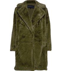 buona faux fur long coat outerwear faux fur groen french connection