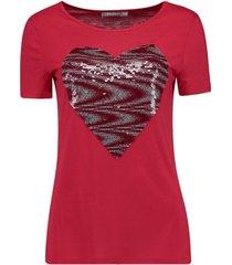 t-shirt hart rood