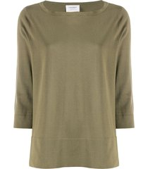 snobby sheep 3/4 sleeve knitted top - green