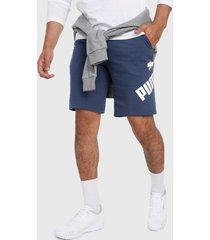 pantaloneta azul-blanco puma