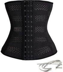 cinta modeladora slim redutora abdominal elã¡stica preta waist w1 - preto - feminino - elastano - dafiti
