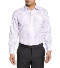 men's big & tall nordstrom men's shop smartcare(tm) traditional fit check dress shirt, size 20 - 38/39 - purple