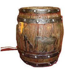 southwestern barrel oil/tart warmer - use with scentsy & yankee candle wax