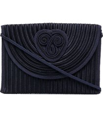 nina ricci pre-owned braided clutch bag - blue