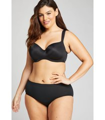 lane bryant women's level 1 smoother hipster panty 12 shadow stripe black
