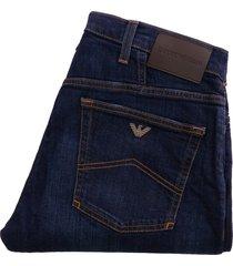 emporio armani j21 regular fit stretch denim jeans - denim blue - 8n1j211v0lz