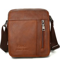 vera pelle vintage business shoulder borsa crossbody borsa per uomo