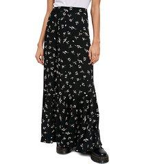 ruby's forever print maxi skirt