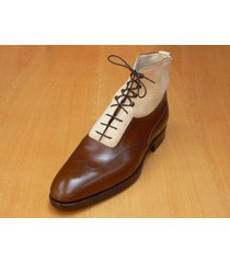 handmade mens ankle hight leather boots, men formal and dress real leather boots