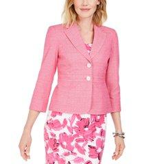 kasper petite cross-dyed tweed blazer