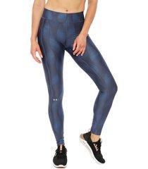 calza under armour ua hg legging metallic azul - calce ajustado