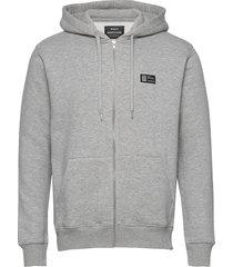 new standard sall badge hoodie trui grijs mads nørgaard