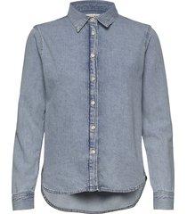 vish overhemd met lange mouwen blauw tiger of sweden jeans