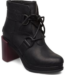 margo lace-up bootie shoes boots ankle boots ankle boots with heel svart sorel