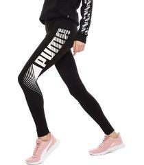 calza puma essgraphic leggings negro - calce ajustado