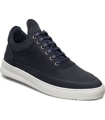 low top ripple nubuck lage sneakers blauw filling pieces