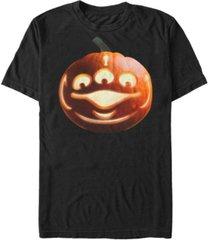 disney pixar men's toy story pumpkin alien big face costume short sleeve t-shirt