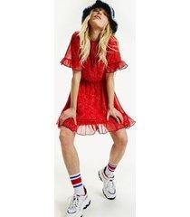 tommy hilfiger women's bandana print dress paisley print / deep crimson - l