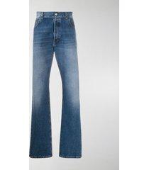 balenciaga logo patch straight-leg jeans