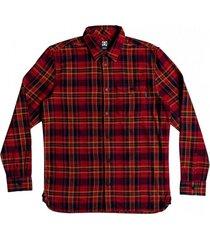 camisa marsha manga larga franela rojo dc
