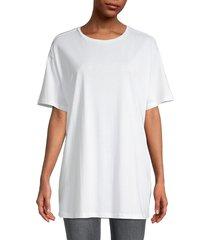 bb dakota women's crewneck dropped-shoulder t-shirt - black - size s