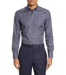 men's eton slim fit medallion dress shirt