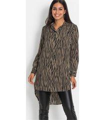 blouse met zebraprint