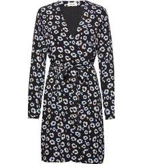 alfred print dress knälång klänning svart modström