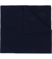 cashmere in love bondi ribbed scarf - blue