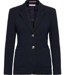 textured sb blazer blazers business blazers blauw tommy hilfiger