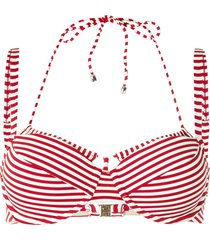 marlies dekkers holi vintage striped double-strap bikini top - red