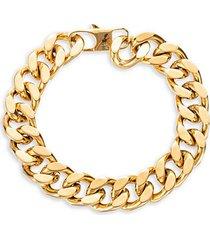 john goldtone titanium curb chain bracelet