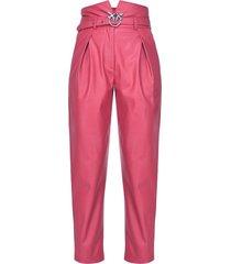 pinko love birds buckle trousers