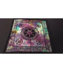 "18"" x 18"" celtic spiral hippie tie dye cotton cloth henna artist tote bag ~india"