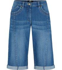 bermuda di jeans con cinta comoda (blu) - bpc bonprix collection