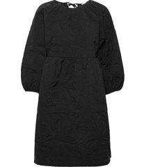 slfkvist 7/8 quilted dress dresses cocktail dresses zwart selected femme