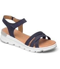 woms sandals shoes summer shoes flat sandals blå tamaris