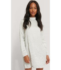 na-kd party creased effect long sleeve mini dress - grey