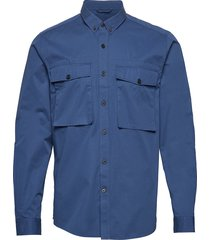 dean milis overhemd casual blauw peak performance