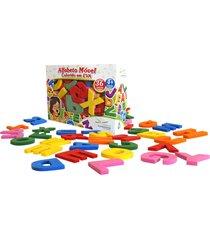 alfabeto móvel colorido eva 36 peças - fundamental