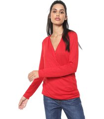blusa banana republic wrap top lgg vermelha