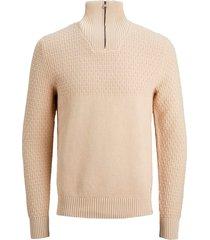 tröja jprblucarlin knit half zip